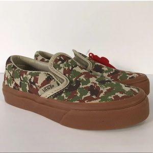 Vans Classic Slip-On Sketch Camo Safari Sneakers